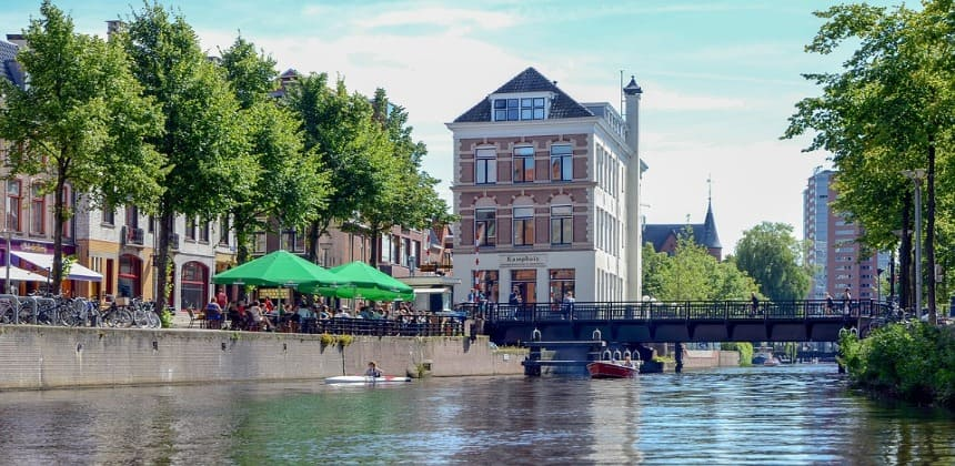 people in Groningen city center