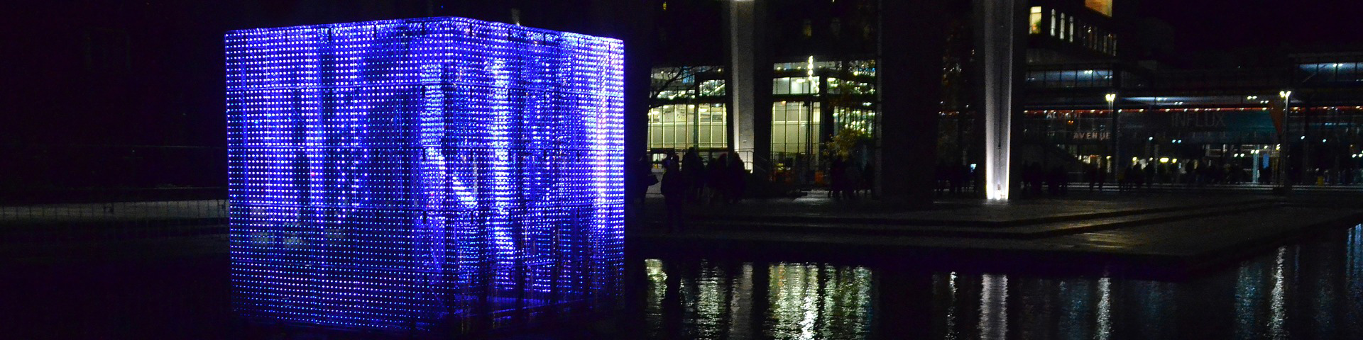 blue light art in Eindhoven during Glow