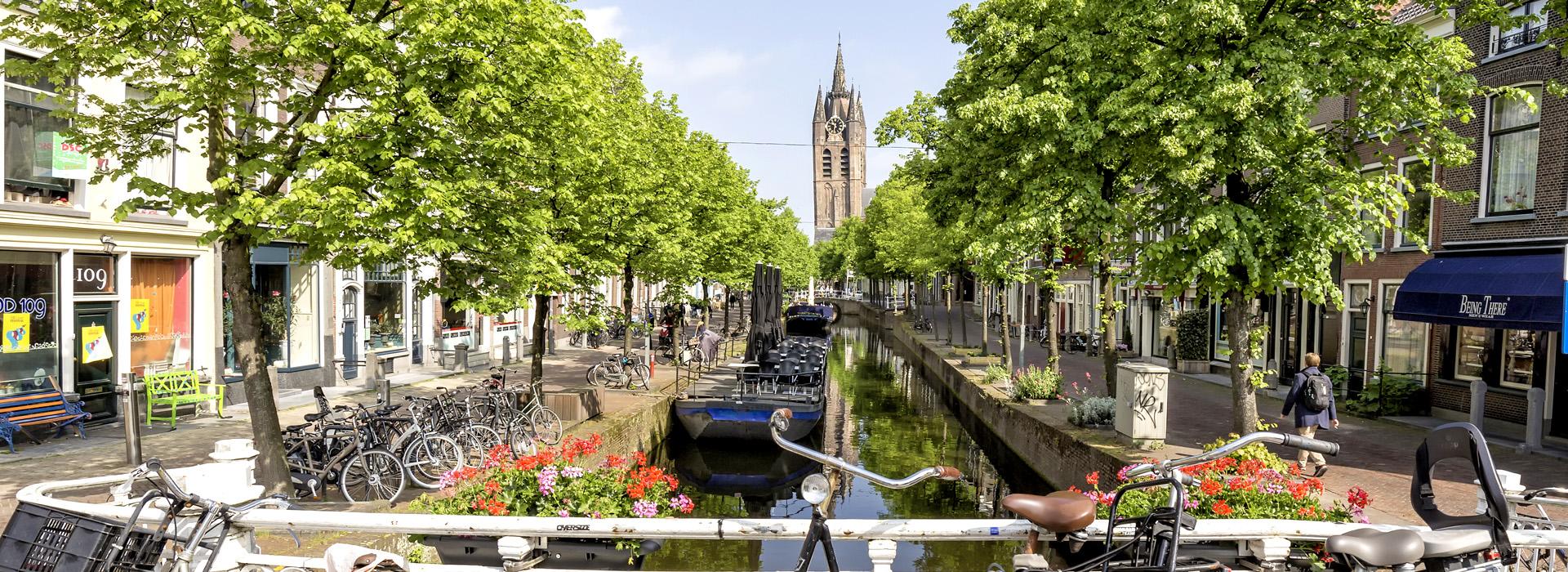 city view of Delft