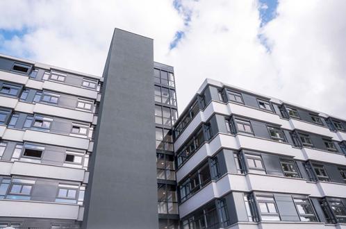 bottom up view of residential building cappele aan den ijssel