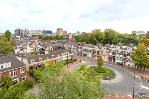 roundabout with dutch homes in doordrecht