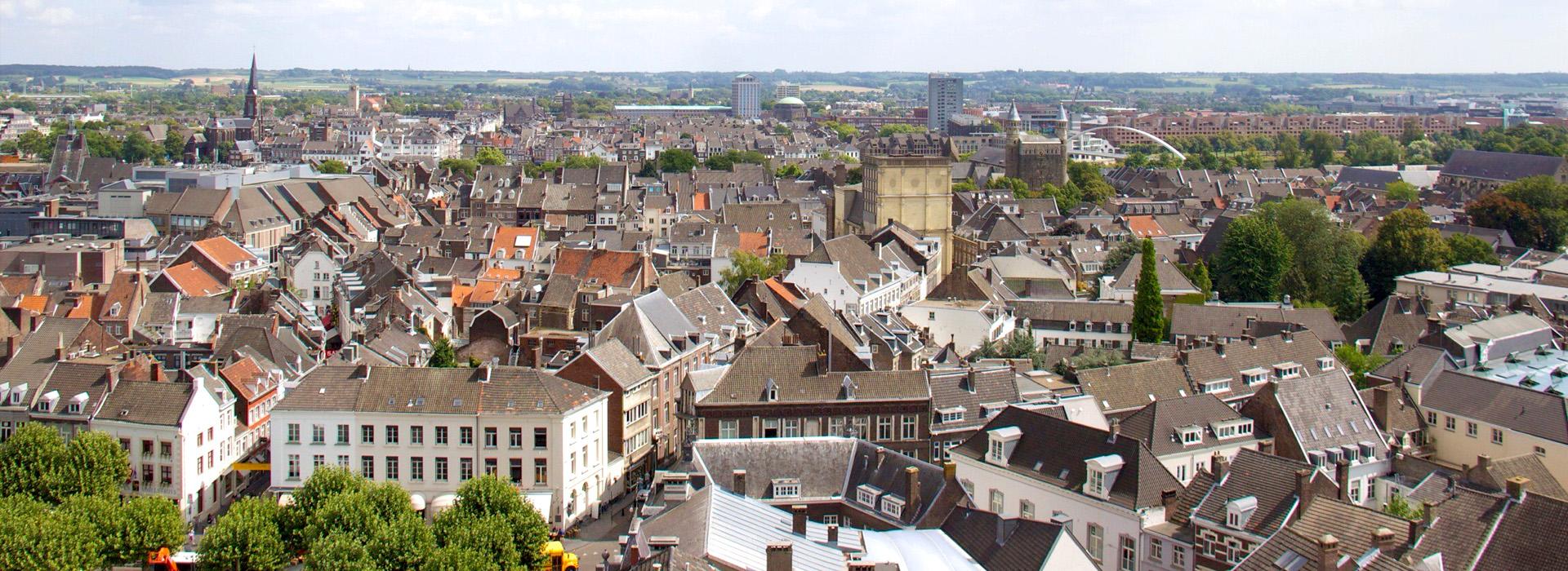 aerial view of dutch town maastricht