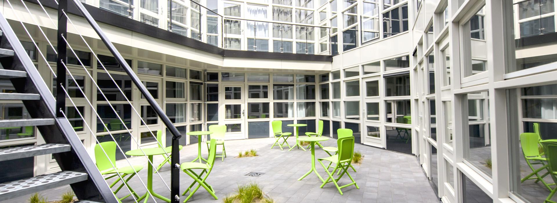 communal garden in The Rock in Eindhoven