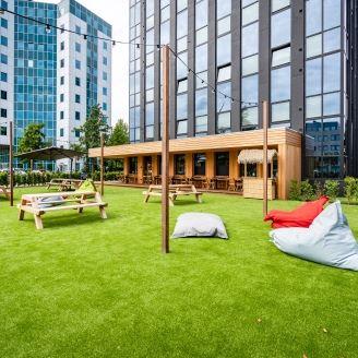 common garden at Rive Republic building in Rotterdam