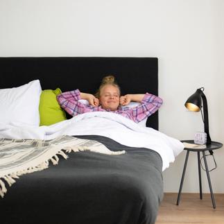 girl relaxing in bed