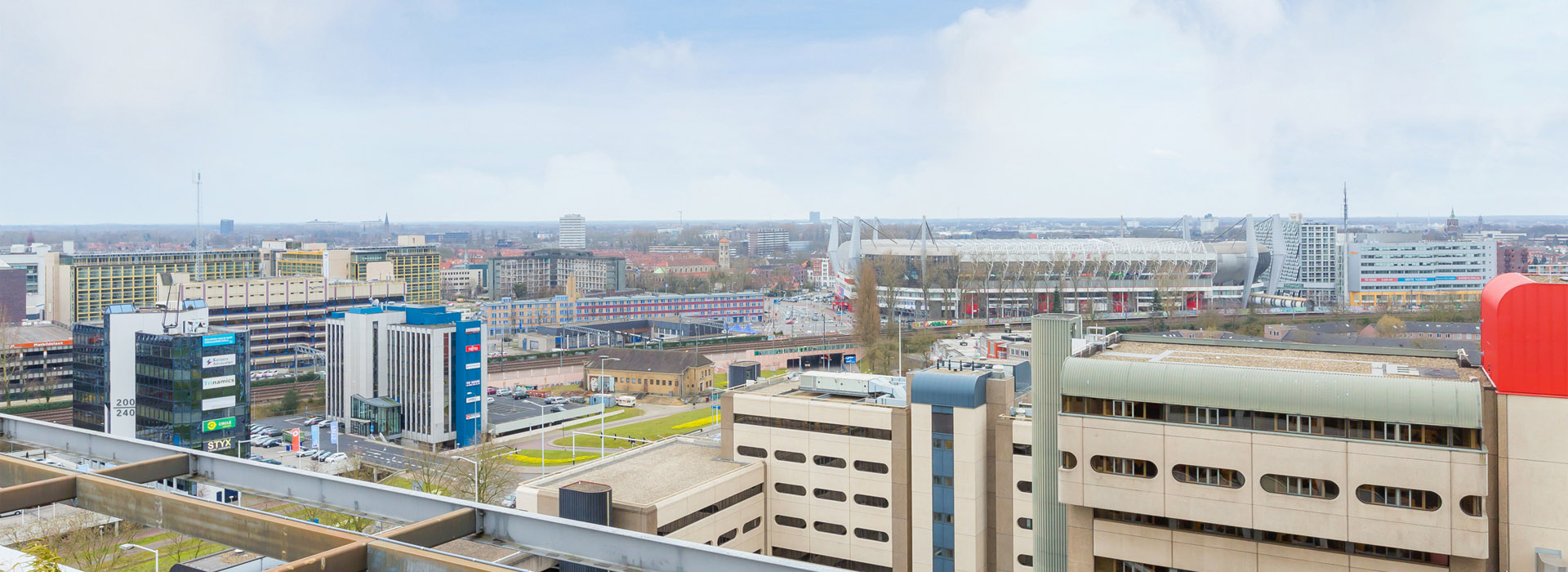 view from rooftop City Tower in Eindhoven