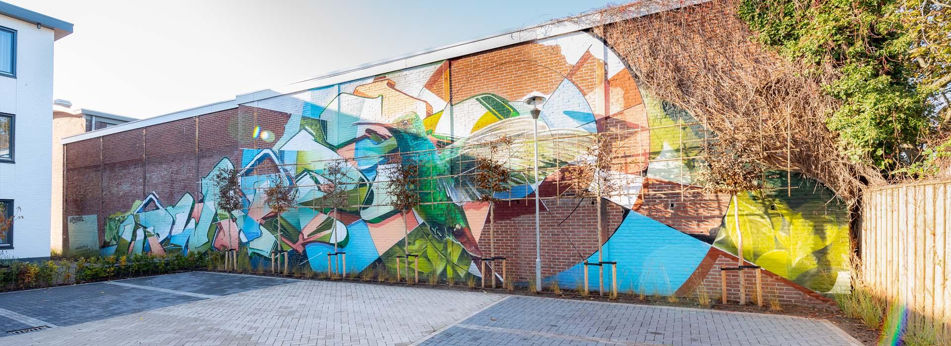 graffiti at parking lot at The Cube