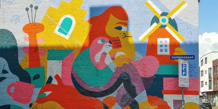colorful mural in Dordrecht