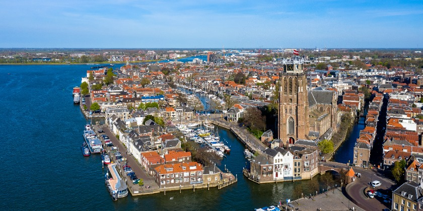 overview of Dordrecht from above