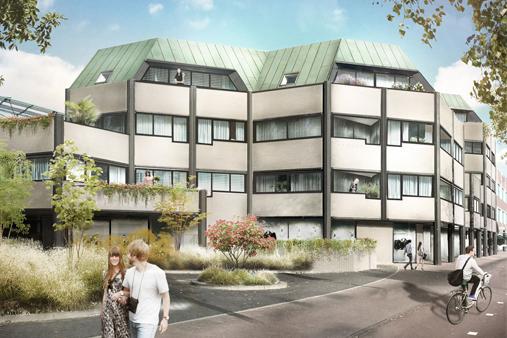 digital rendering residential building helmond
