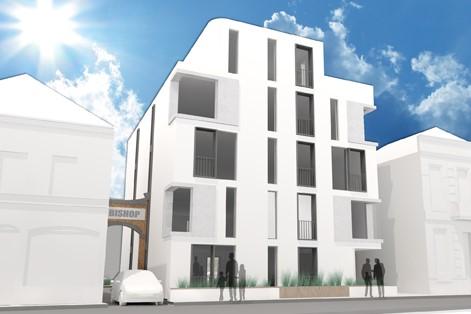 digital rendering of residential building The Bishop in Tilburg