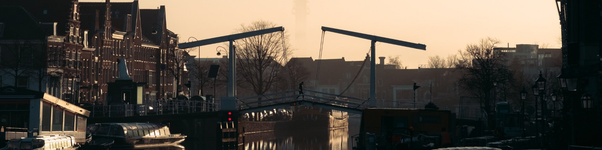 bridge across canal in Haarlem
