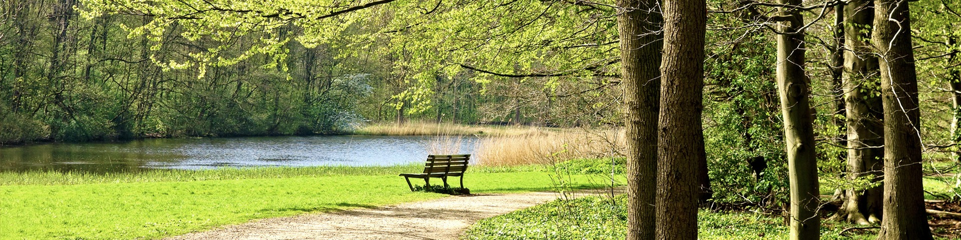 peaceful park along the river in Nieuwegein
