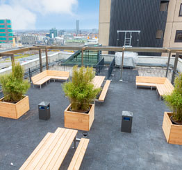 rooftop terrace City Tower