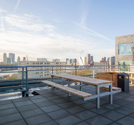 rooftop terrace DNA in Rotterdam