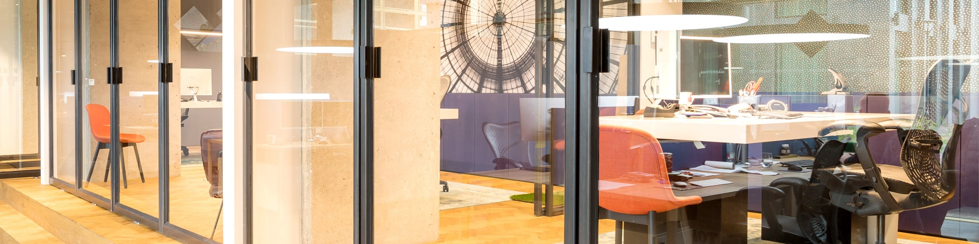 interior of Holland2Stay head office in Eindhoven