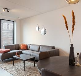 luxurious rustic livingroom with large corner sofa