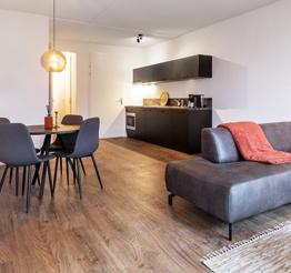 modern open kitchen in luxurious apartment