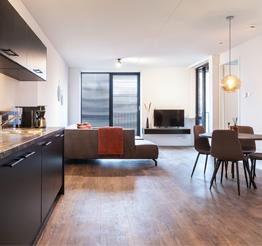 chic open kitchen in waalre