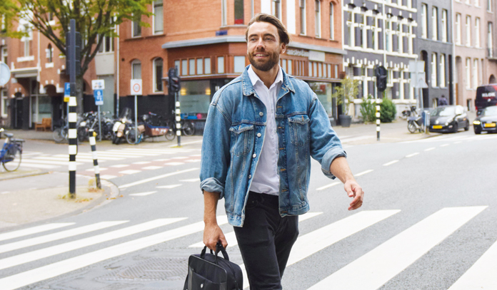 tenant walking in city