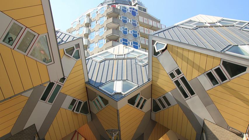 yellow cube homes Rotterdam