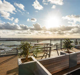rooftop terrace The Lee Towers in Rotterdam