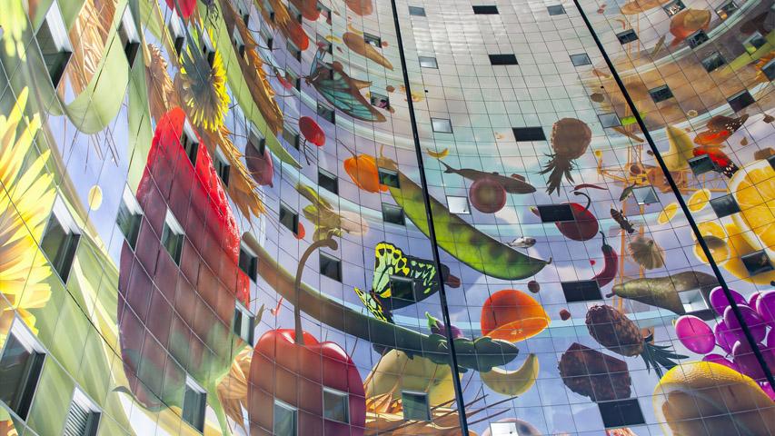 Markthal wall mural