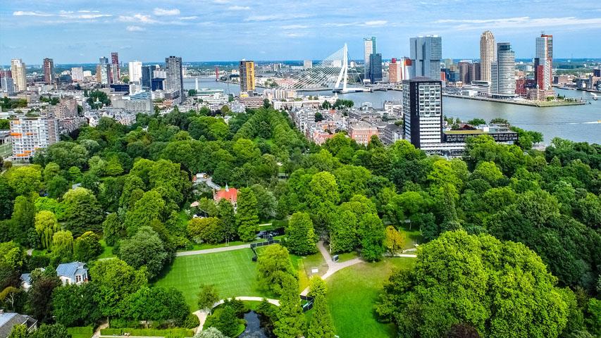 aerial view of Schoonoord Park Rotterdam