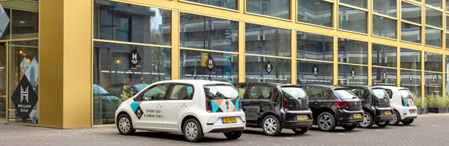 cars in front of Holland2Stay head office