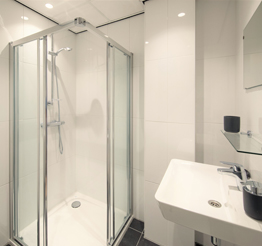 modern bathroom with shower cabin
