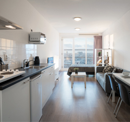 cozy studio apartment in The Y