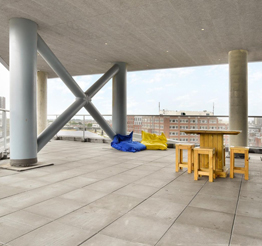 common area terrace in The Y in The Hague