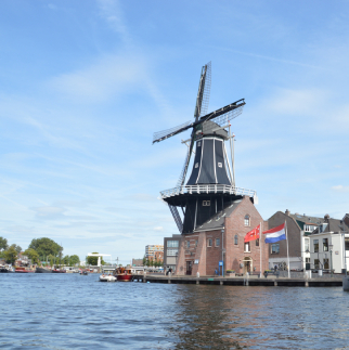 mill next to water in Haarlem