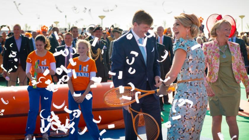 King Willem-Alexander and Queen Máxima visiting De Rijp, the Netherlands