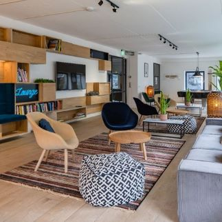 shared living room in Rive Republic
