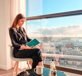 tenant enjoying the view in Rotterdam